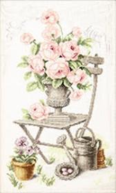 Набор для вышивки крестом Летний натюрморт с розами Чарiвна мить (Чаривна мить) М-355 - 403.00грн.