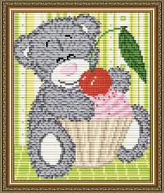 Набор для выкладки алмазной мозаикой Мишка с кексом Art Solo АТ5527 - 248.00грн.
