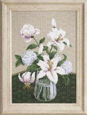 Набор для вышивки крестиком Таинство белых цветов Чарiвна мить (Чаривна мить) М-280