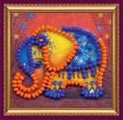 Набор - магнит для вышивки бисером Оранжевый слоник