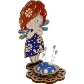 Игольница набор для вышивки бисером Ангел-девочка синяя Волшебная страна FLK-282 - 270.00грн.