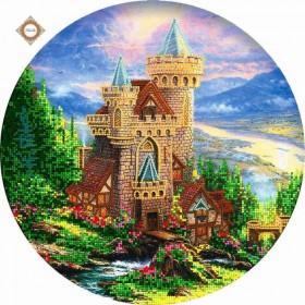 Схема для вышивки бисером на атласе Старый замок