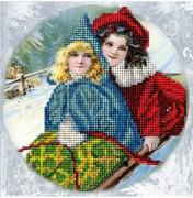 Набор для вышивки ювелирным бисером Рождественские истории 16
