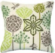 Набор для вышивки подушки крестиком Полевые травы