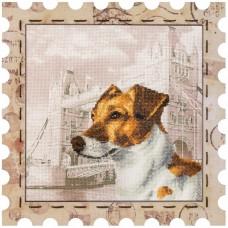 Набор для вышивки нитками Почтовая марка Джек Рассел терьер