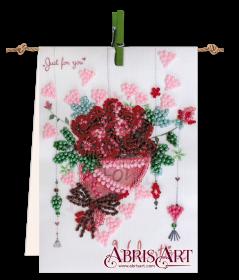 Набор-флажок для вышивки бисером на холсте Букет с любовью Абрис Арт АТ-004 - 75.00грн.