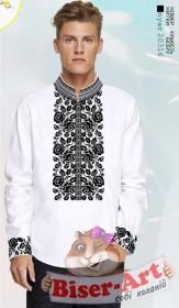 Заготовка для вышивки мужской сорочки на белом льне Biser-Art 1567 - 435.00грн.