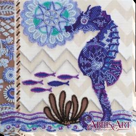 Набор-миди для вышивки бисером на холсте На дне морском
