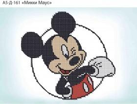 Схема для вышивки бисером на габардине Микки Маус