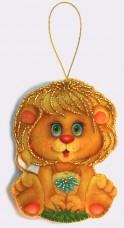 Набор для изготовления игрушки из фетра для вышивки бисером Львенок Баттерфляй (Butterfly) F035