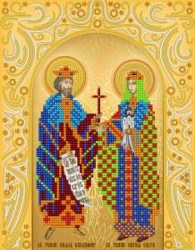 Схема вышивки бисером на атласе  Св. Равноап. Владимир и Ольга (золото) А-строчка АС4-162 - 51.00грн.
