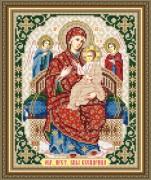 Схема вышивки бисером на авторской канве Всецарица Образ Пресвятой Богородицы