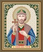 Схема вышивки бисером на габардине Св. Георгий (Юрий)