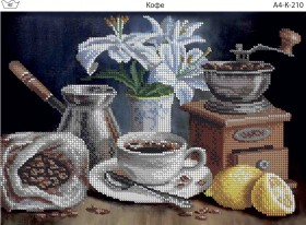 Схема для вышивки бисером на габардине Кофе Acorns А4-К-210 - 45.00грн.