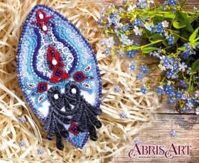Набор для вышивки бисером украшения на натуральном художественном холсте Восточный мотив