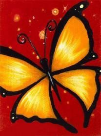 Набор для выкладки алмазной мозаикой Желтая бабочка