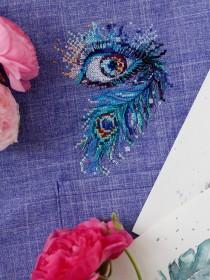 Набор для вышивки крестом на одежде Королевский взгляд - 1 Абрис Арт АНО-019 - 156.00грн.