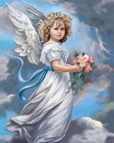 Набор для выкладки алмазной мозаикой Ангел в облаках Алмазная мозаика DM-157 - 640.00грн.