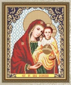 Схема для вышивки бисером на габардине Богородица Боянская