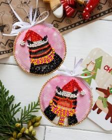 Набор для вышивки новогоднего украшения Мурздрав