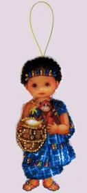 Набор для изготовления куклы из фетра для вышивки бисером Кукла. Африка-М