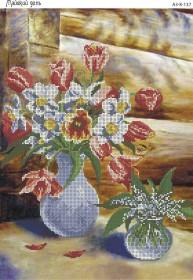 Схема вышивки бисером на габардине Майский день, , 70.00грн., А3-К-137, Acorns, Цветы