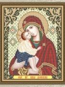 Схема для вышивки бисером на габардине Богородица Донская