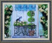 Набор для вышивки бисером Прогулка на балконе