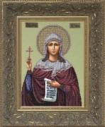 Схема вышивки бисером на ткани Св. Татиана (Татьяна)