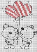 Набор для вышивки крестом Два медвежонка