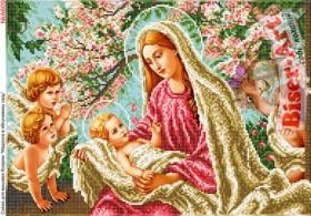 Схема вышивки бисером на габардине Марія в яблуневому саду