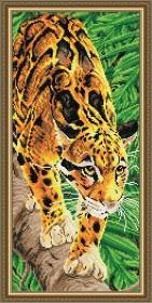 Набор для выкладки алмазной техникой Дымчатый леопард, , 500.00грн., АТ3216, Art Solo, Животные