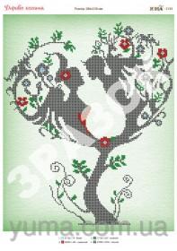 Схема вышивки бисером на атласе Дерево Любви, , 61.00грн., ЮМА-3195, Юма, Схемы и наборы для вышивки бисером по Фен шуй