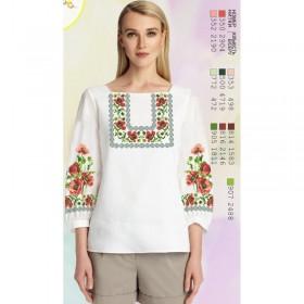 Заготовка женской сорочки на белом габардине Biser-Art SZ80 - 320.00грн.