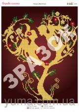 Схема вышивки бисером на атласе Дерево Любви