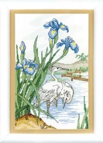 Набор для вышивки крестом На пруду