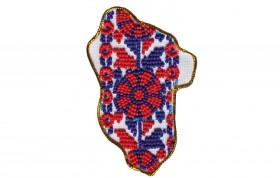 Набор - магнит для вышивки бисером Карта Украины Луганская область, , 64.00грн., АМК-012, Абрис Арт, Украина