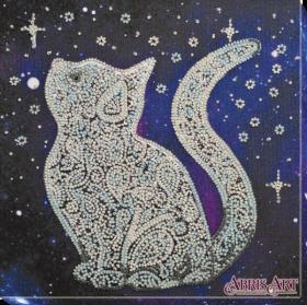 Набор для вышивки бисером на холсте Звездный кот Абрис Арт АМВ-052 - 219.00грн.