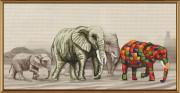 Набор для вышивки крестом Прогулка слонов