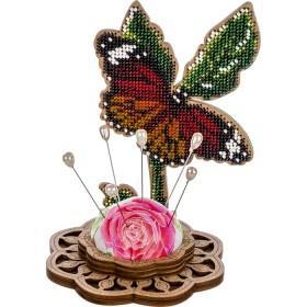 Игольница набор для вышивки бисером Бабочка Волшебная страна FLK-279 - 236.00грн.