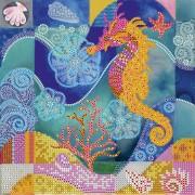 Схема вышивки бисером на холсте Морской конек