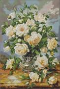 Схема для вышивки бисером на атласе Нежные розы