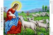 Рисунок на габардине для вышивки бисером Пастир