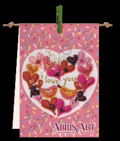 Набор-флажок для вышивки бисером на холсте Песня любви Абрис Арт АТ-006 - 87.00грн.