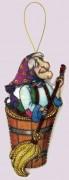 Набор для изготовления игрушки из фетра для вышивки бисером Баба-Яга