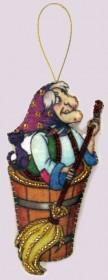 Набор для изготовления игрушки из фетра для вышивки бисером Баба-Яга, , 48.00грн., F104, Баттерфляй (Butterfly), Новый год