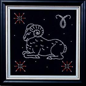Набор для вышивки бисером Овен, , 102.00грн., БГ-003 МК, Магия канвы, Гороскоп