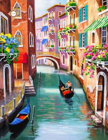 Схема для вышивки бисером на атласе Полдень в Венеции
