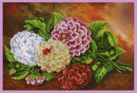 Набор для вышивки бисером Натюрмотр с гортензией Картины бисером Р-336 - 973.00грн.