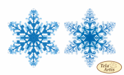 Схема для вышивки бисером на ВЕЛЮРЕ Снежинка